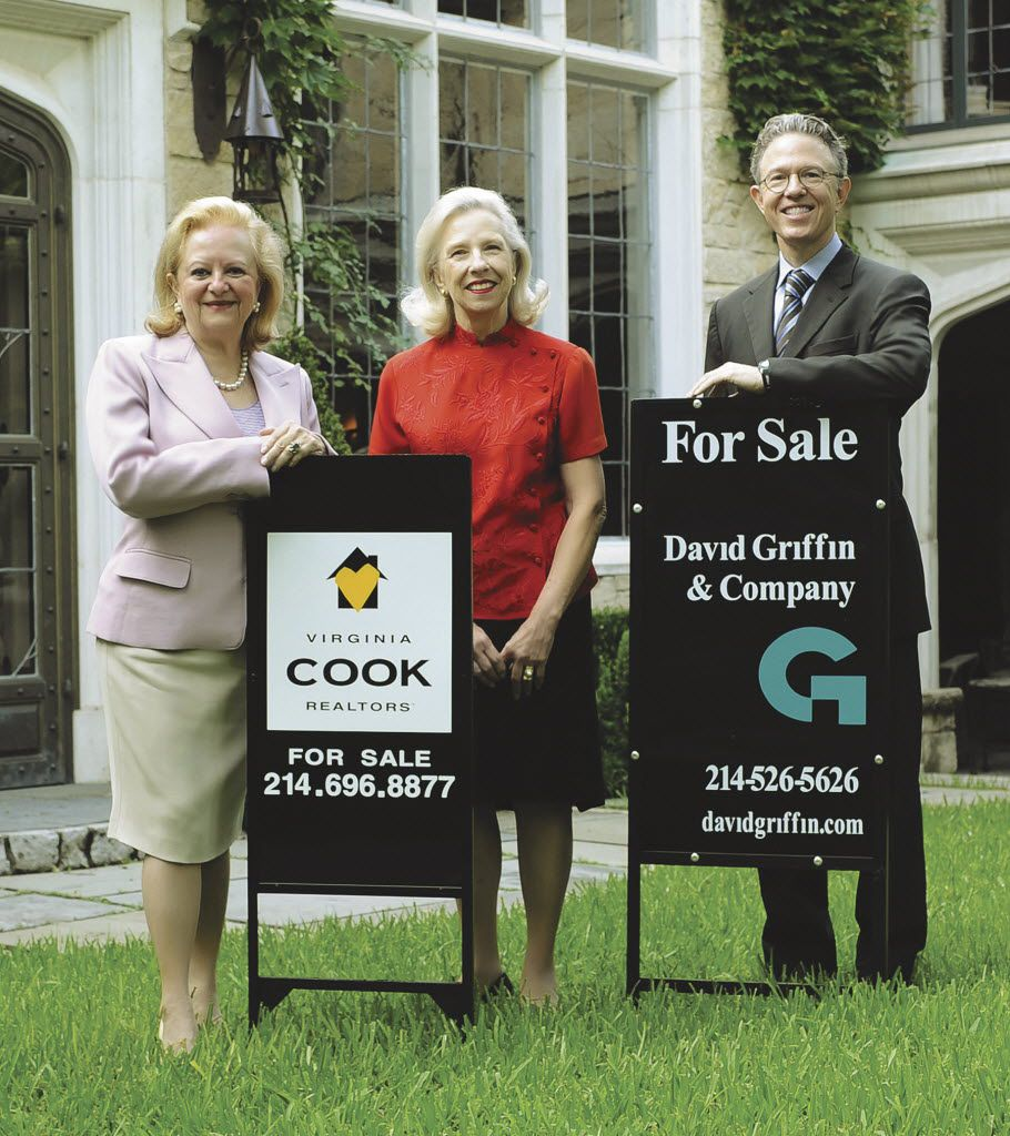 Virginia Cook (left) and Sheila Rice, co-founders of Virginia Cook Realtors, and David Griffin of David Griffin & Co.  joined forces in 2010..