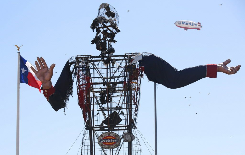 Oct. 19, 2012: Big Tex after the fire