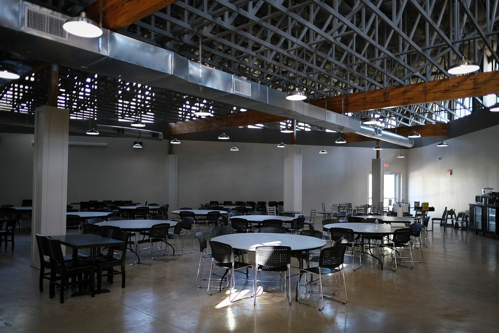 The Samaritan Inn homeless center features a large dining area.