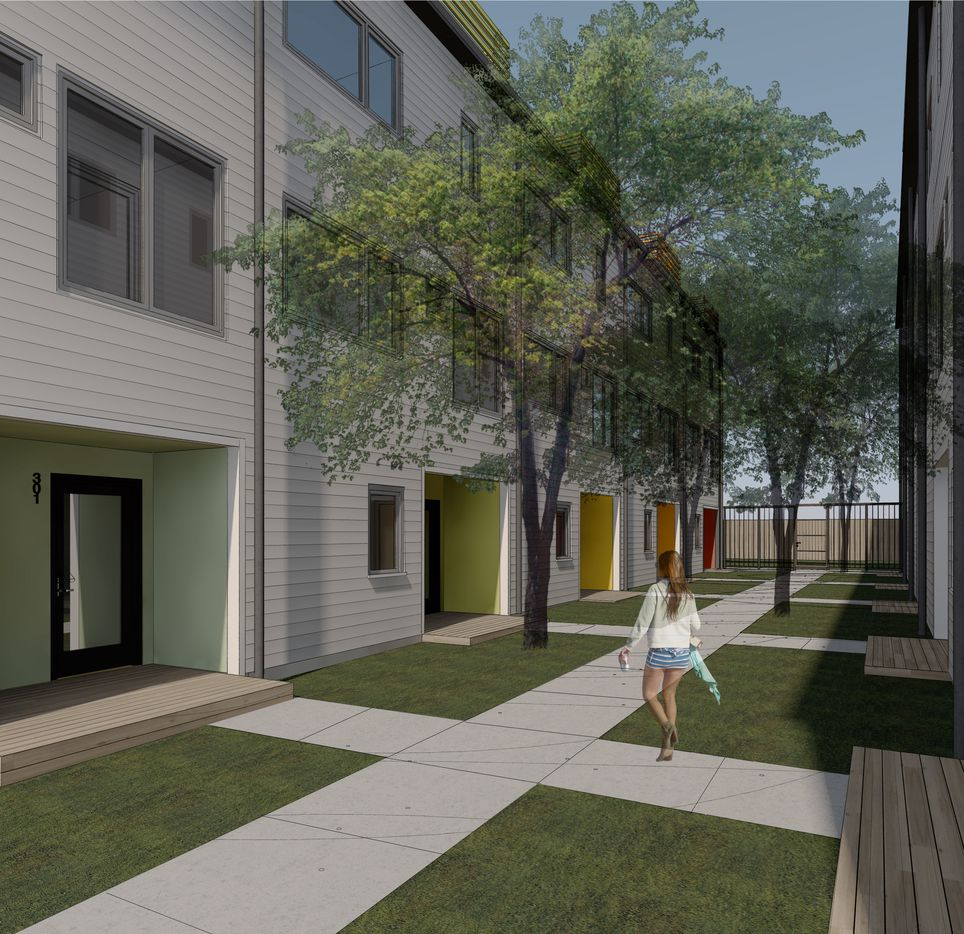 The project will include 41 town homes in the first phase.