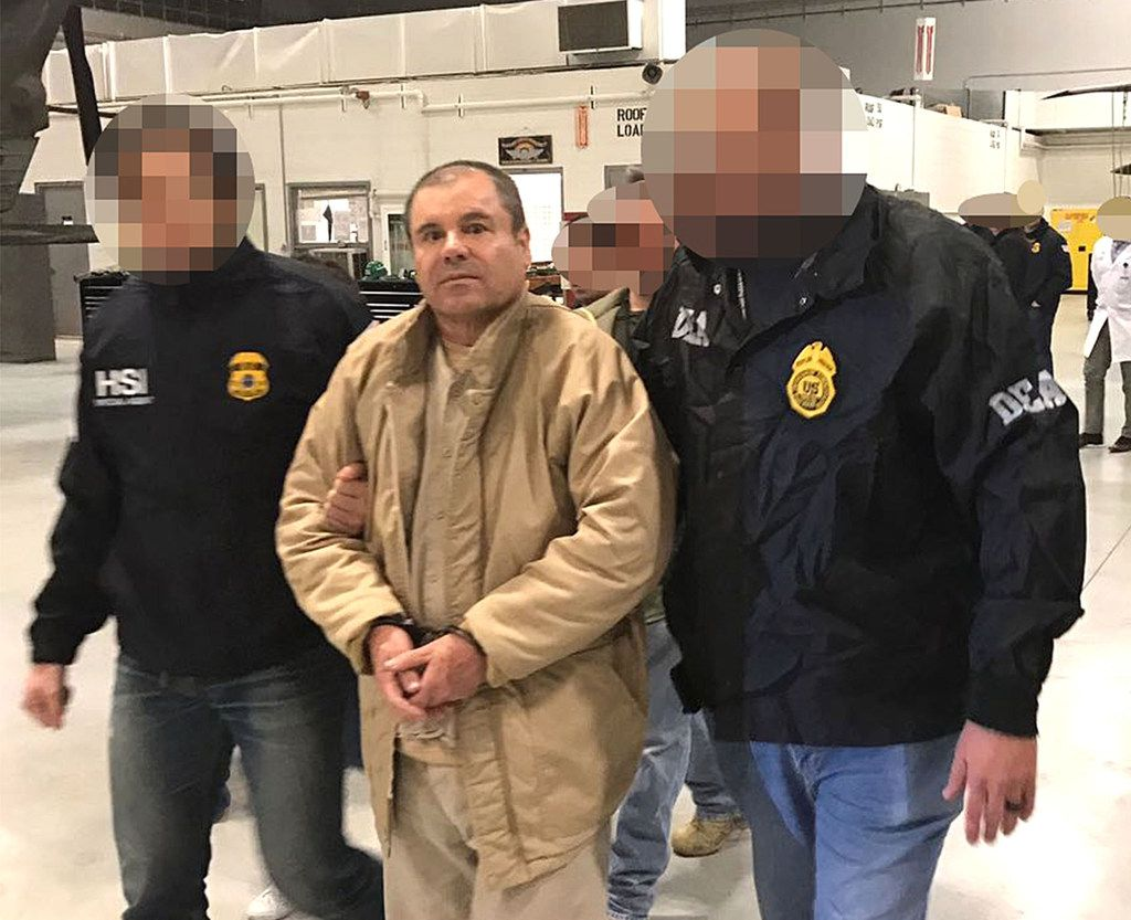 """Drug lord Joaquín """"El Chapo"""" Guzmán was extradited to the United States on Jan. 19, 2017, and flown from a jail in Ciudad Juarez, Mexico, to New York to face a number of charges."""