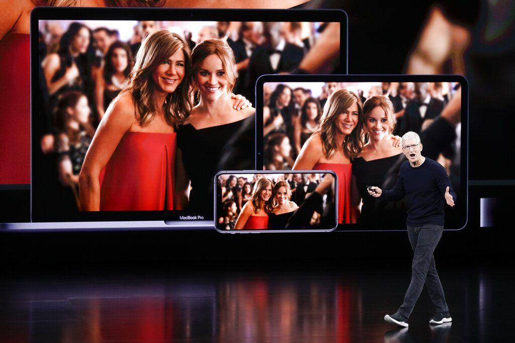 El director de Apple Tim Cook anunciando nuevos productos el 10 de septiembre del 2019 en Cupertino, California.
