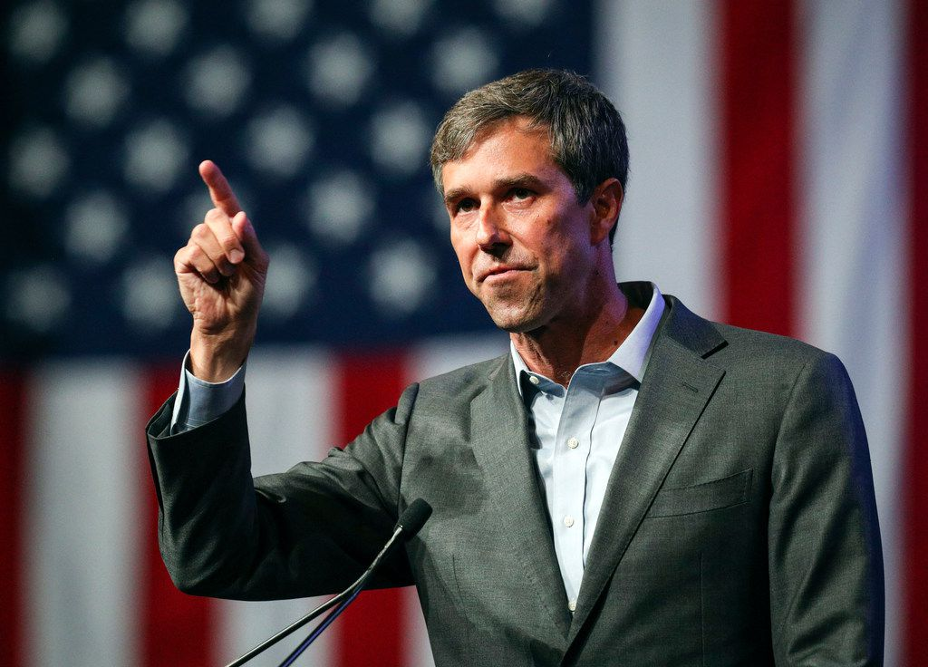 Rep. Beto O'Rourke speaks at the Texas Democratic Convention in Fort Worth on June 22, 2018.
