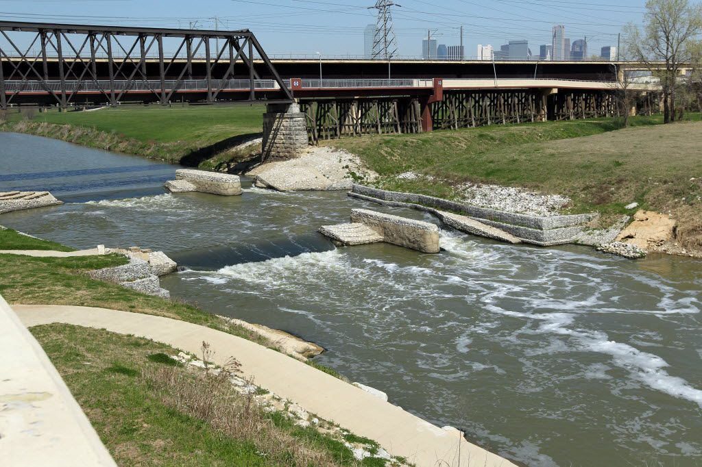 The view of Standing Wave at Santa Fe Trestle Trail, in Dallas on March 29, 2014. (Kye R. Lee/The Dallas Morning News)