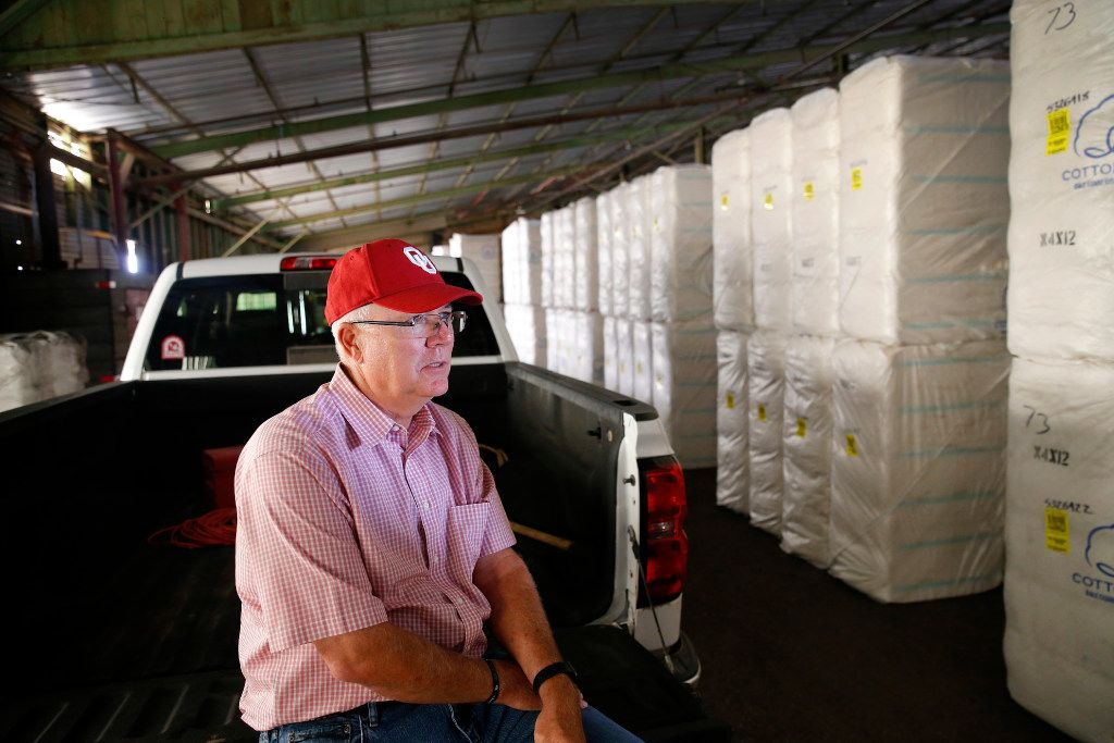 Central Compress & Warehouse Co. owner Mike Riley, of Muleshoe, Texas is the proud father of new Oklahoma head football coach Lincoln Riley, Tuesday, August 1, 2017. He is selling the large Sudan, Texas cotton compressing and storage business and retiring. (Tom Fox/The Dallas Morning News)