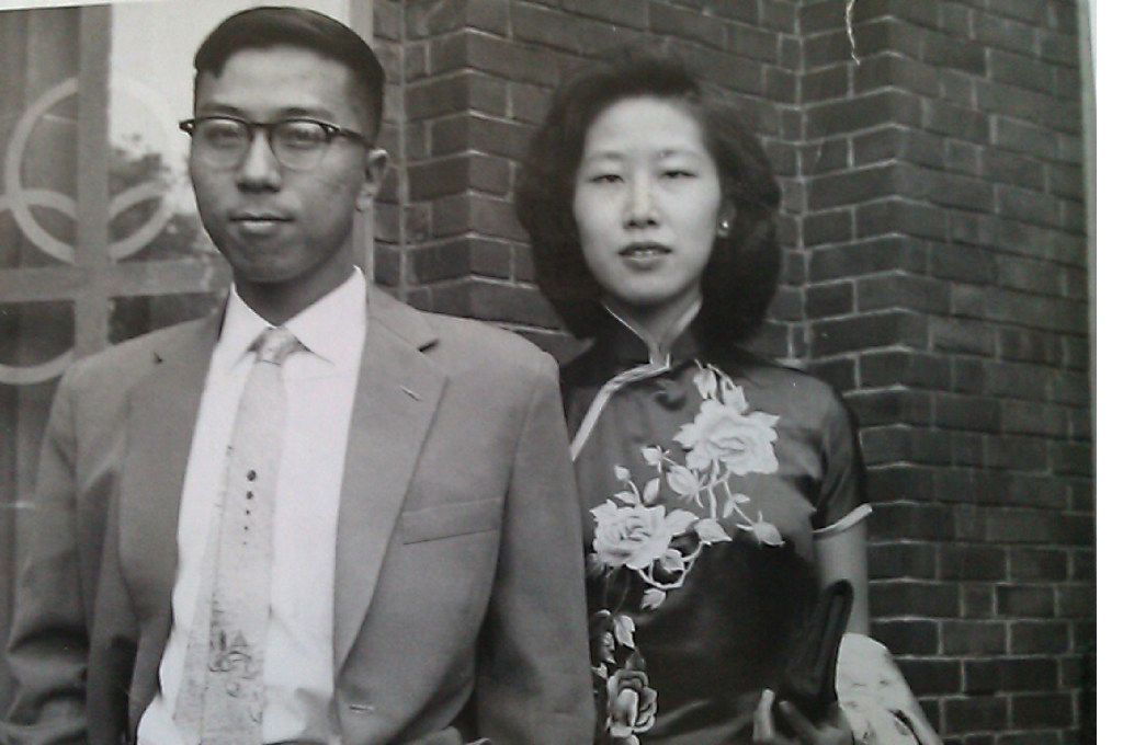 The writer's parents in an undated family photo