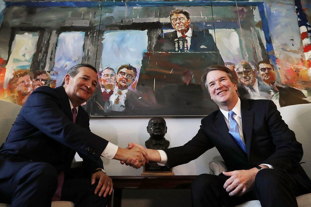Sen. Ted Cruz met with Supreme Court nominee Judge Brett Kavanaugh in Cruz's office July 17.