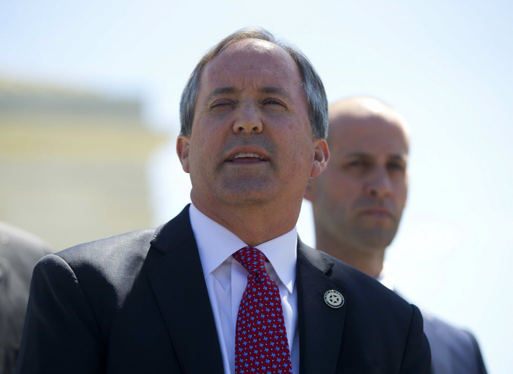 Texas Attorney General Ken Paxton (above) issued his nonbinding opinion Tuesday. Lt. Gov. Dan Patrick said the opinion is further proof that Fort Worth ISD Superintendent Kent Scribner should step down.
