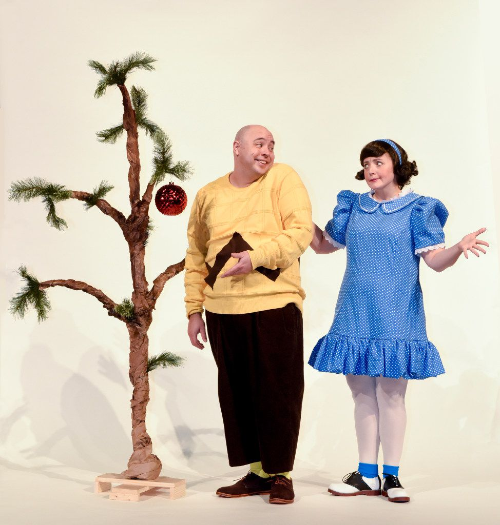 (from l-r) Christopher Curtis plays Charlie Brown and Brett Warner plays Lucy in Dallas Children's Theater's 'A Charlie Brown Christmas' Nov. 18-Dec. 21, 2016 at the Rosewood Center for Family Arts in Dallas.