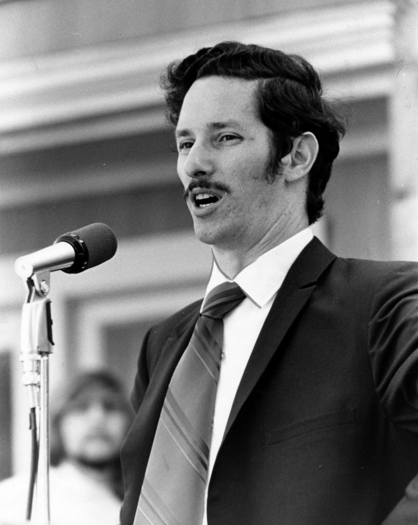 Rabbi Irwin Goldenberg, then at Temple Emanu-el, was among the Dallas Peace Day speakers in Oct. 15, 1969.