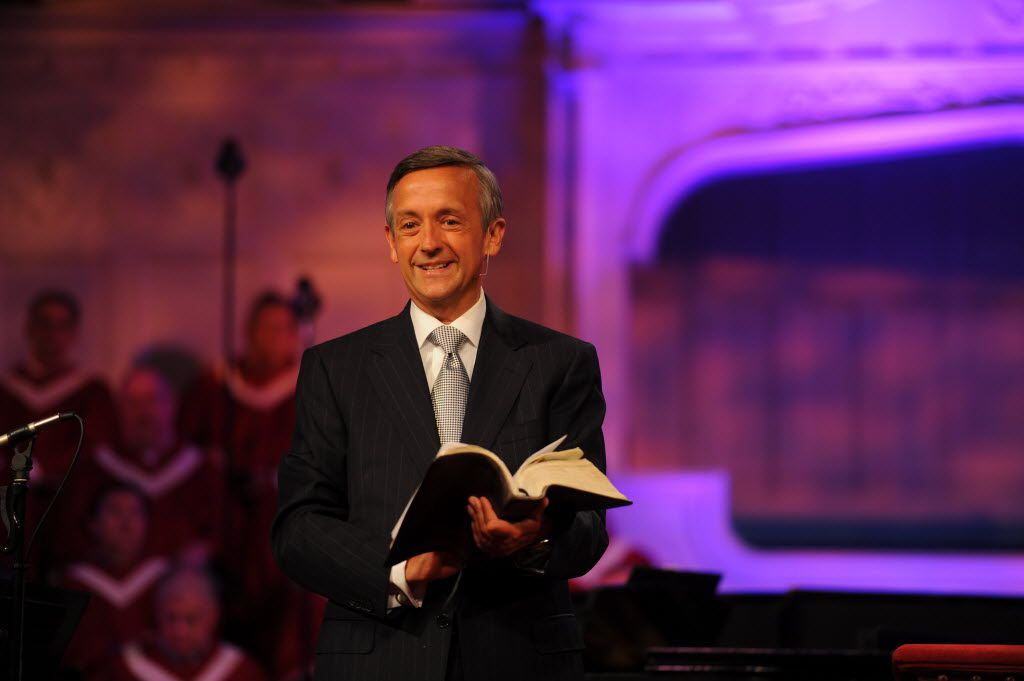 This undated photo provided by First Baptist Church shows the Rev. Robert Jeffress.