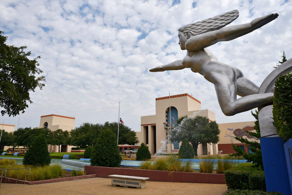 """A structure/statue titled """"Contralto"""" inside Fair Park in Dallas, on Thursday morning, July 26, 2018."""