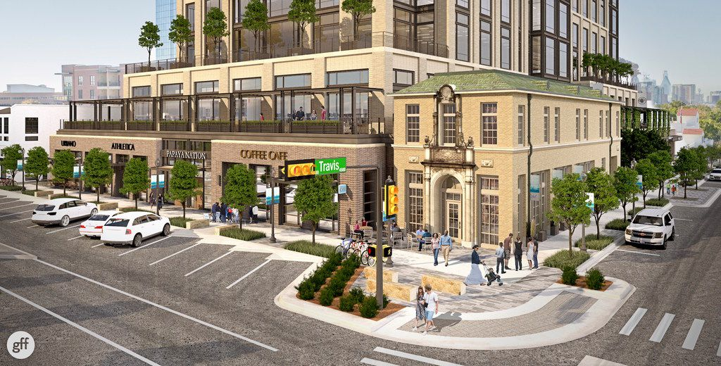 A retail strip and office tower will replace the longtime Weir's Furniture store in Dallas' Knox Street district.