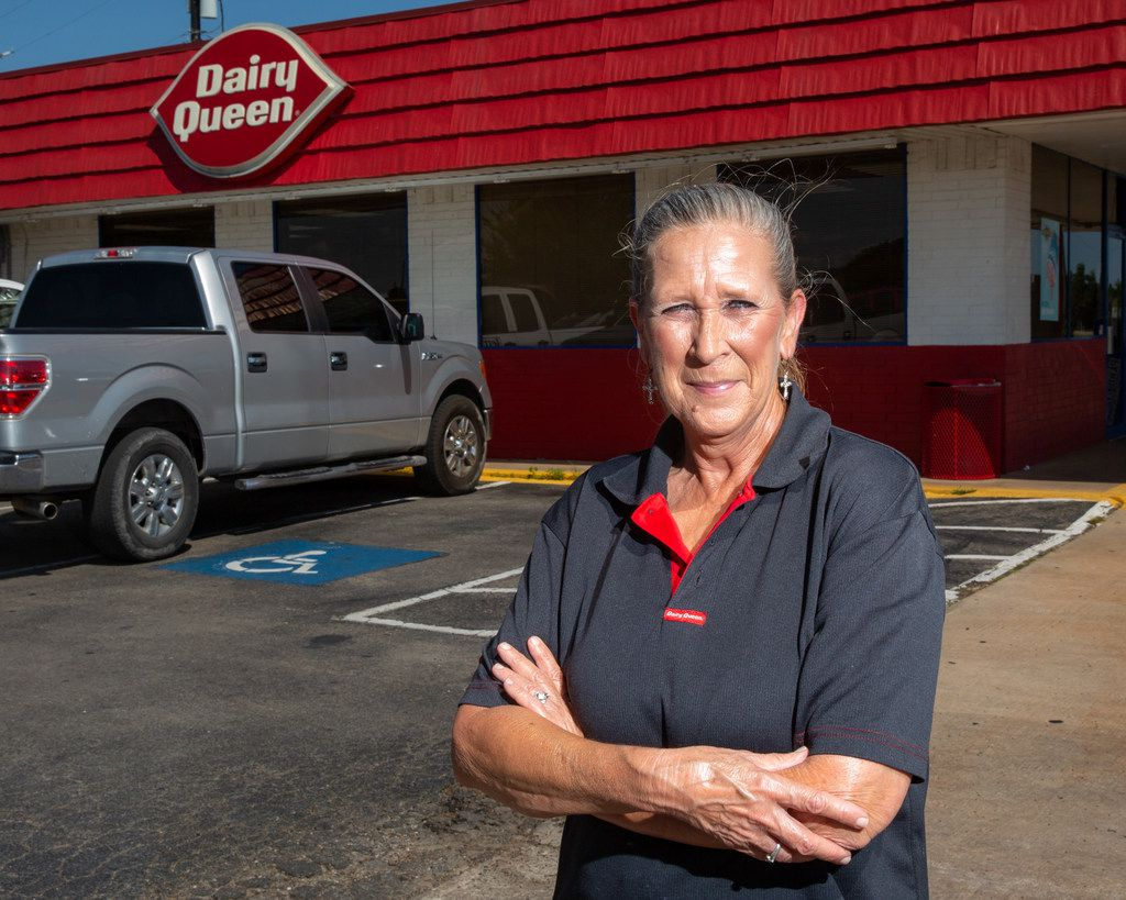 Teresa Thompson, a cook at the Dairy Queen in Cooper, witnessed the fire at the neighboring Enloe State Bank.