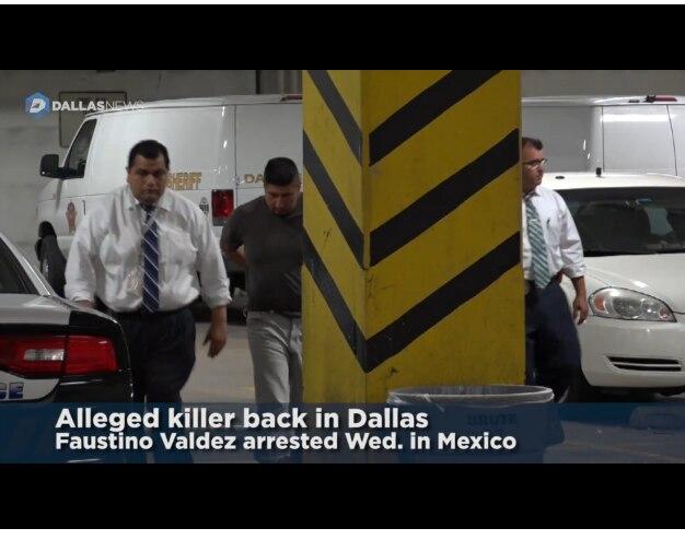 Faustino Valdez a su llegada a  Dallas./ DMN