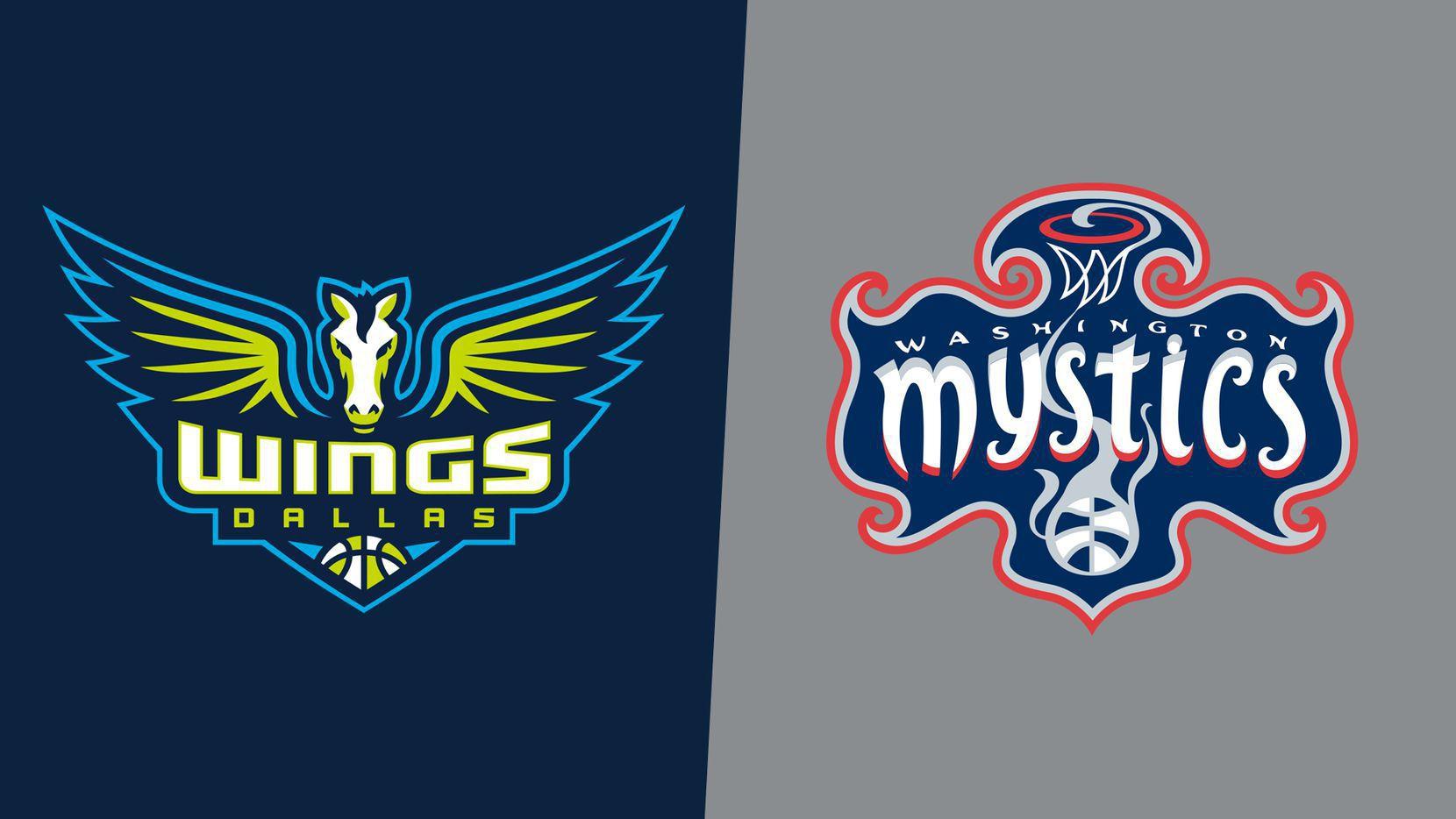 Dallas Wings/Washington Mystics logos