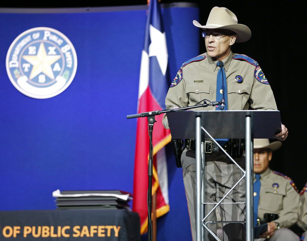 Texas Department of Public Safety Director Steven McCraw speaks during the 155th trooper training class graduation ceremony at Shoreline Church on Friday, June 17, 2016, in Austin, Texas.