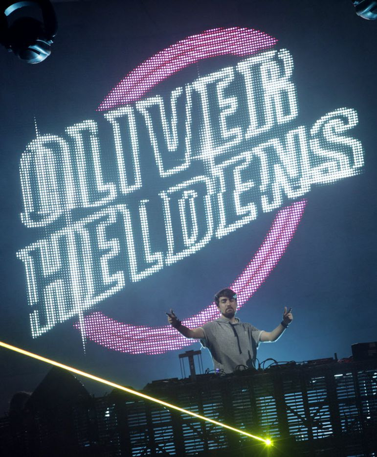 Oliver Heldens performs during the Lights All Night festival at the Dallas Convention Center in Dallas, TX, on Dec. 26, 2014. (Jason Janik/Special Contributor)