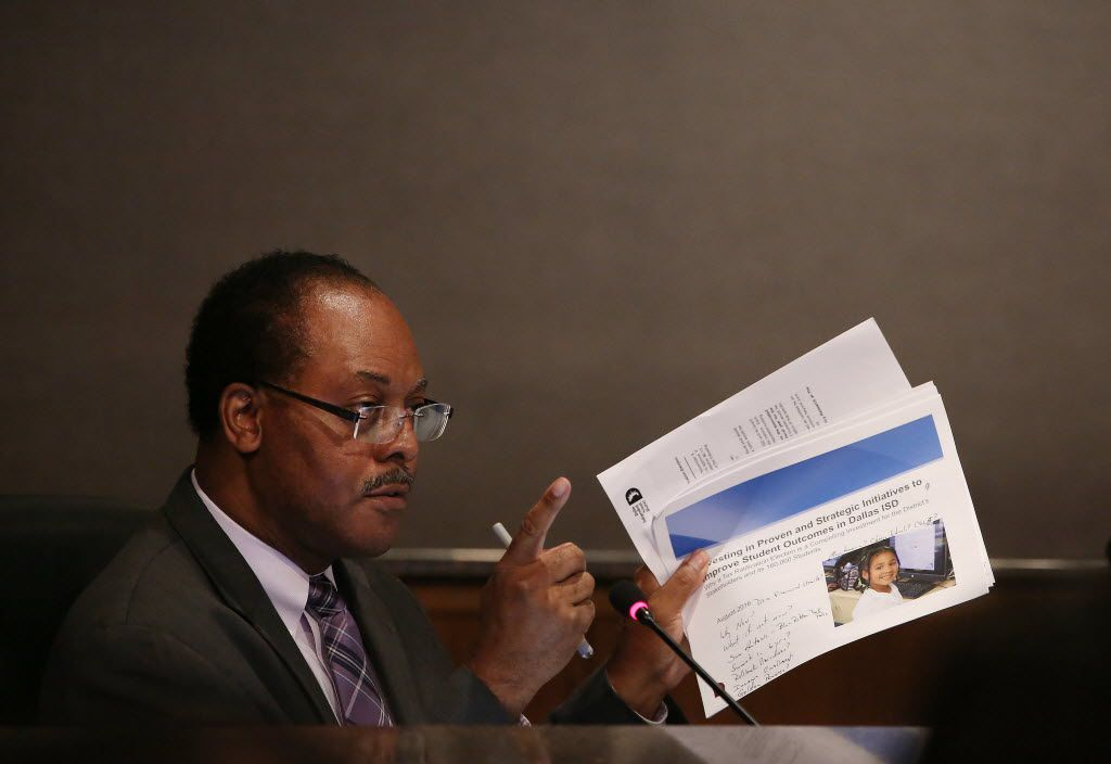 DISD trustee Lew Blackburn initially supported,  then was the swing vote opposing a measure to call a tax ratification election, or TRE, for a 13-cent tax hike to expand successful district programs.  (Andy Jacobsohn/The Dallas Morning News)