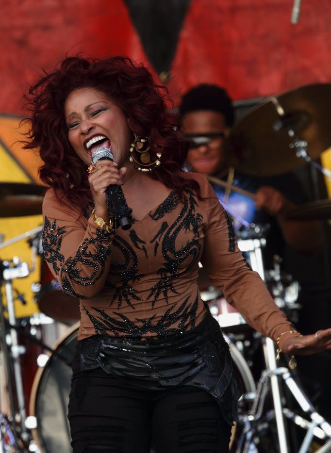 Chaka Khan performs at the 2014 New Orleans Jazz & Heritage Festival.