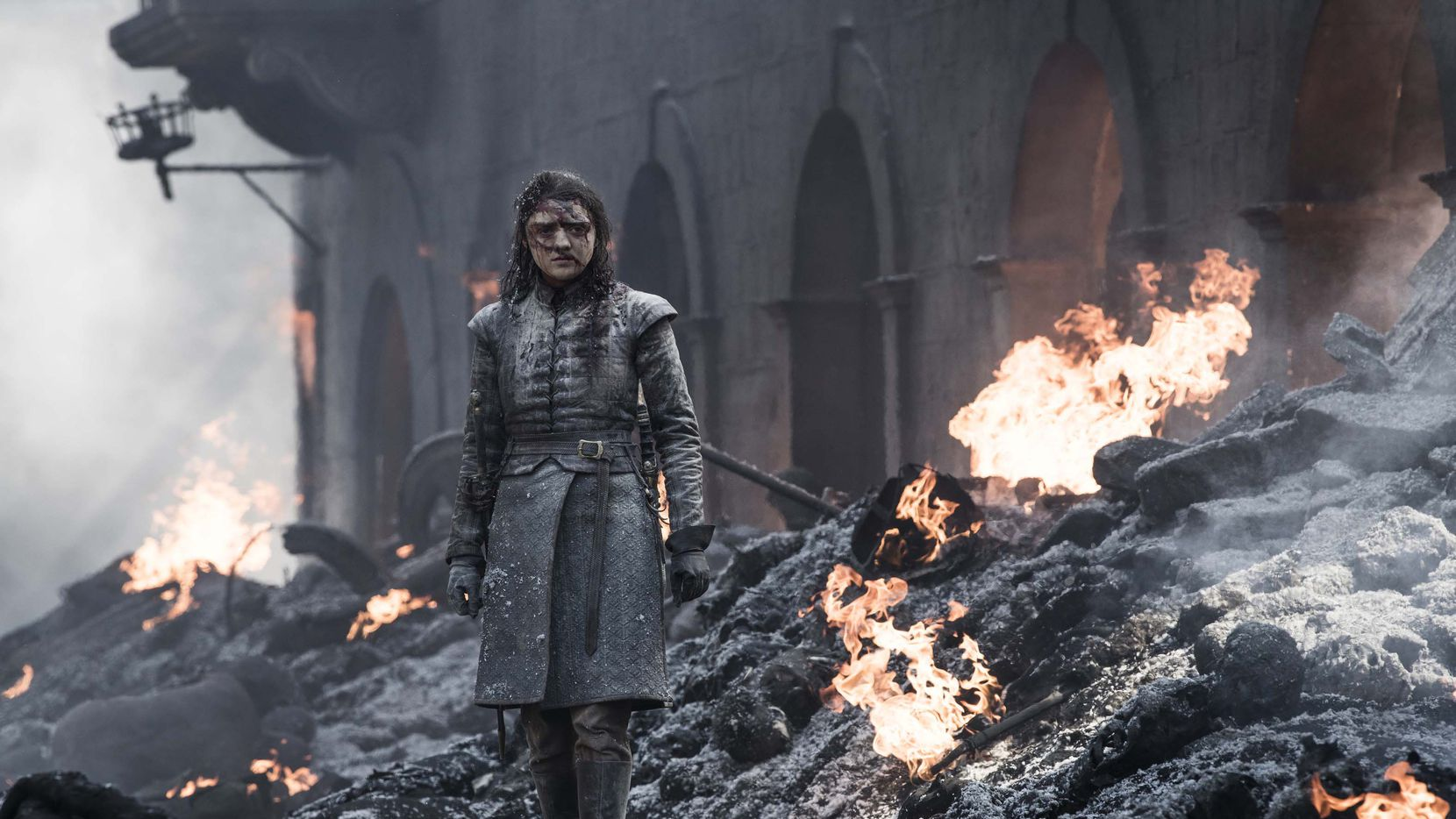 Arya (Maisie Williams) luego de la masacre de Drogon en King's Landing. HBO