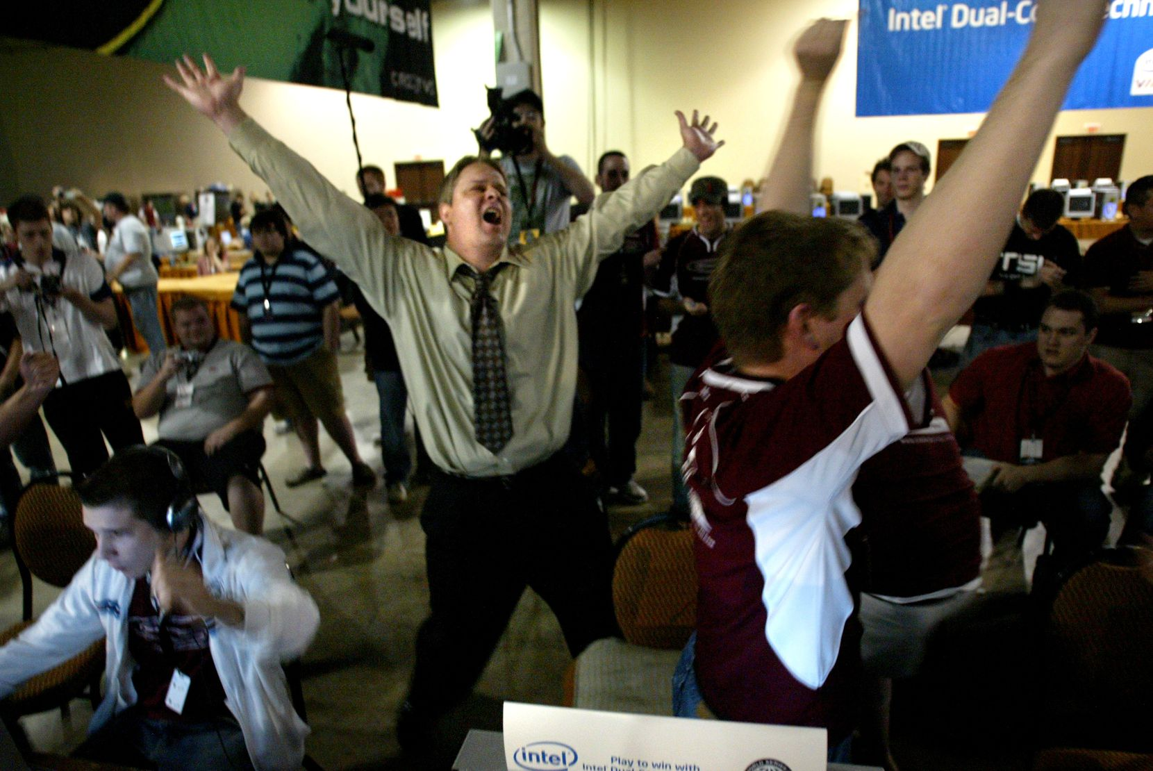 Complexity Gaming founder Jason Lake has been embedded in esports for nearly two decades. He's pictured here in 2006, celebrating his team's Counter Strike 1.6 championship at the World Series of Video Games.