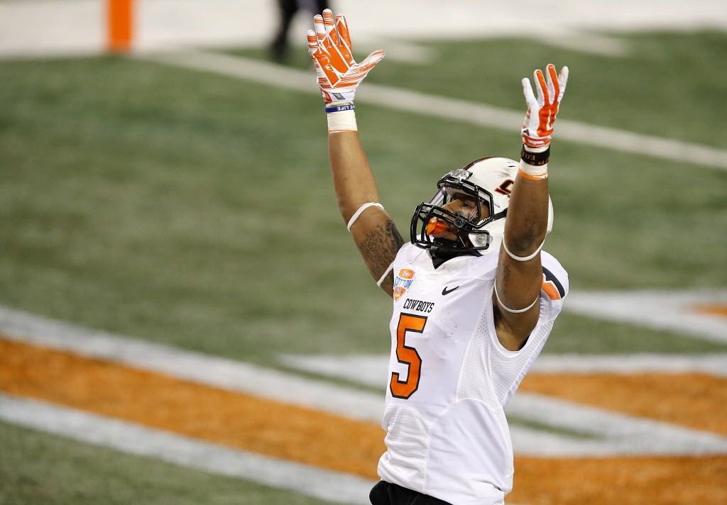 JOSH STEWART / WR, Oklahoma State / At 5-foot-10, Stewart doesn't fit the prototypical NFL wide receiver mold, but some teams may be more interested in the former Cowboys standout because of his return ability. Because it is such a deep WR draft, a team could get a real steal with Stewart in the later rounds.
