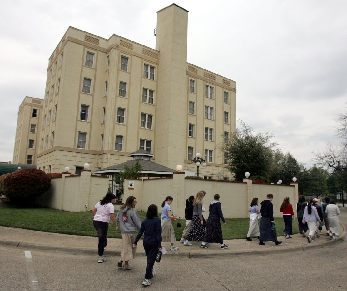 March 22, 2006: Students return to the old Ambassador Hotel for study hall time Wednesday in Dallas at a training course at the Institute for Basic Life Principles, located at the old Ambassador Hotel south of downtown Dallas.