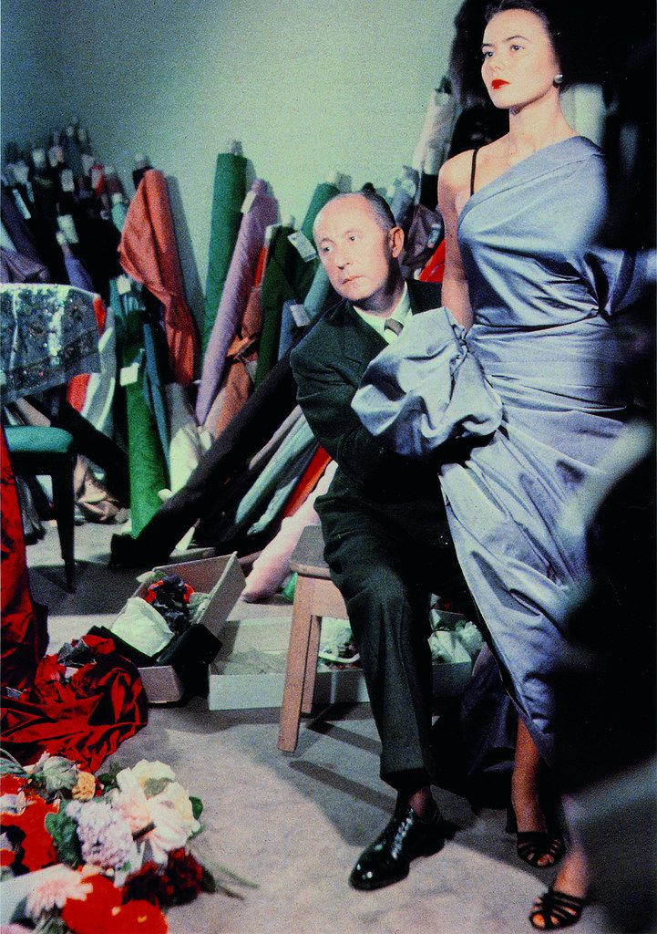 Christian Dior draped fabric over model Sylvie in 1948. The fashion icon and founder of the House of Dior died of a heart attack in 1957, but his company lived on.