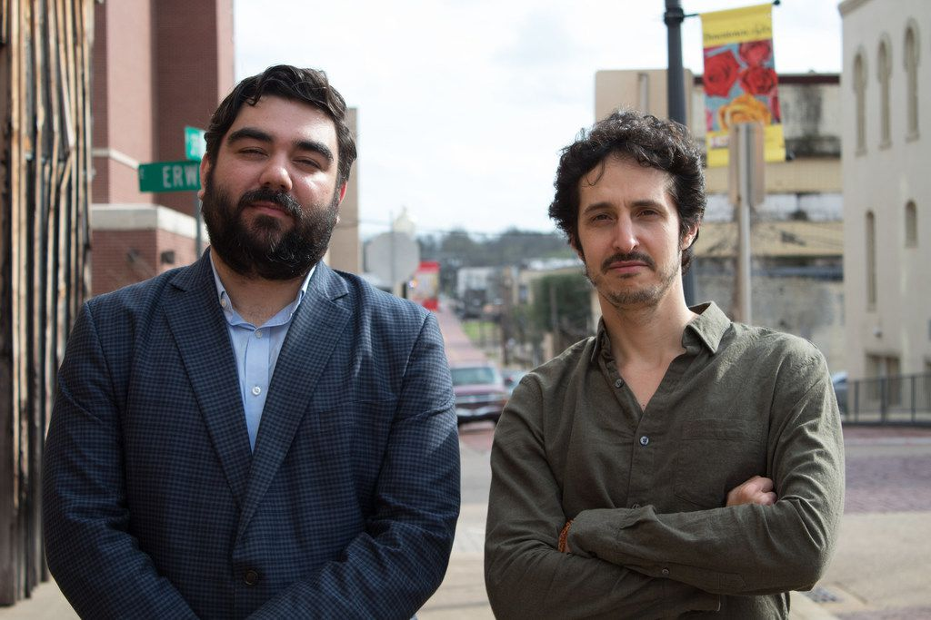 Director and producer Joel Fendelman (left) and producer James Chase Sanchez of the PBS Independent Lens documentary Man on Fire about the Rev. Charles Moore.