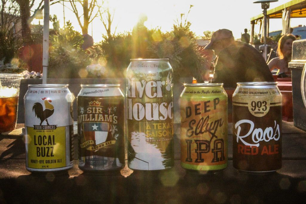 Some of the local craft beers that were available at Luckapalooza in Trinity Groves on March 22, 2015.