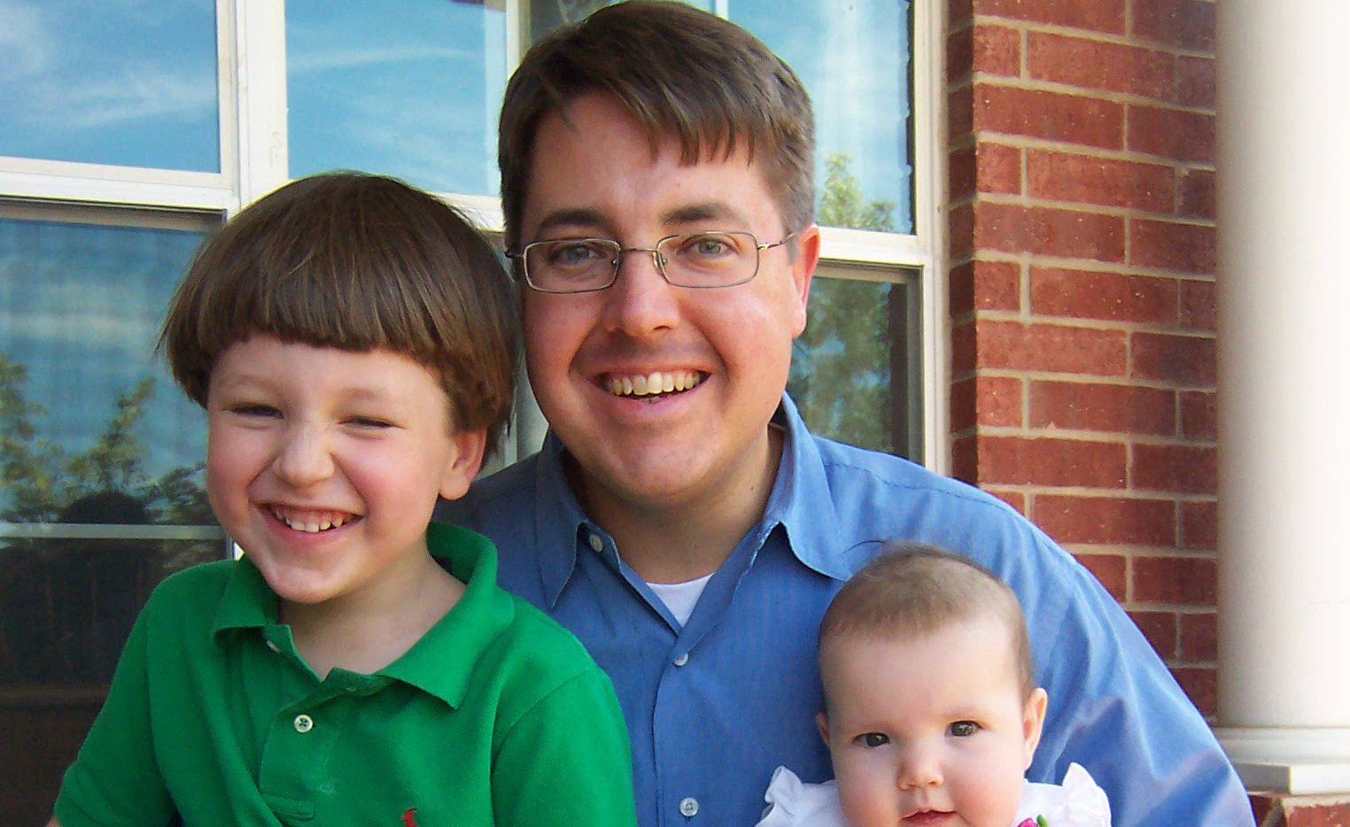 Steve Damm is pictured with his and Tyra's kids, Cooper and Katie, in 2005. Steve died 10 years ago.