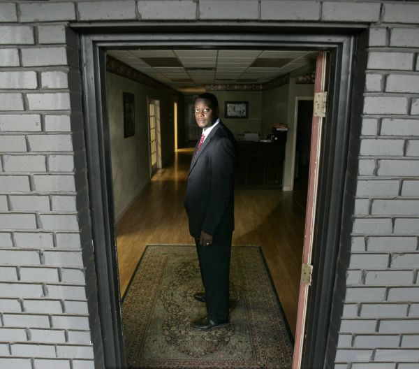 District Attorney-elect Craig Watkins stood inside his law office on Martin Luther King Jr. Boulevard in 2006. His bond business was in a neighboring location in a T-shirt business.