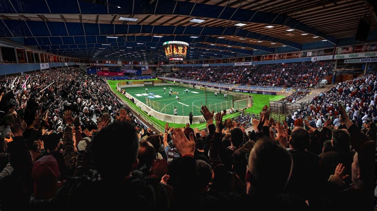 An artist's rendering of the renovated arena interior.