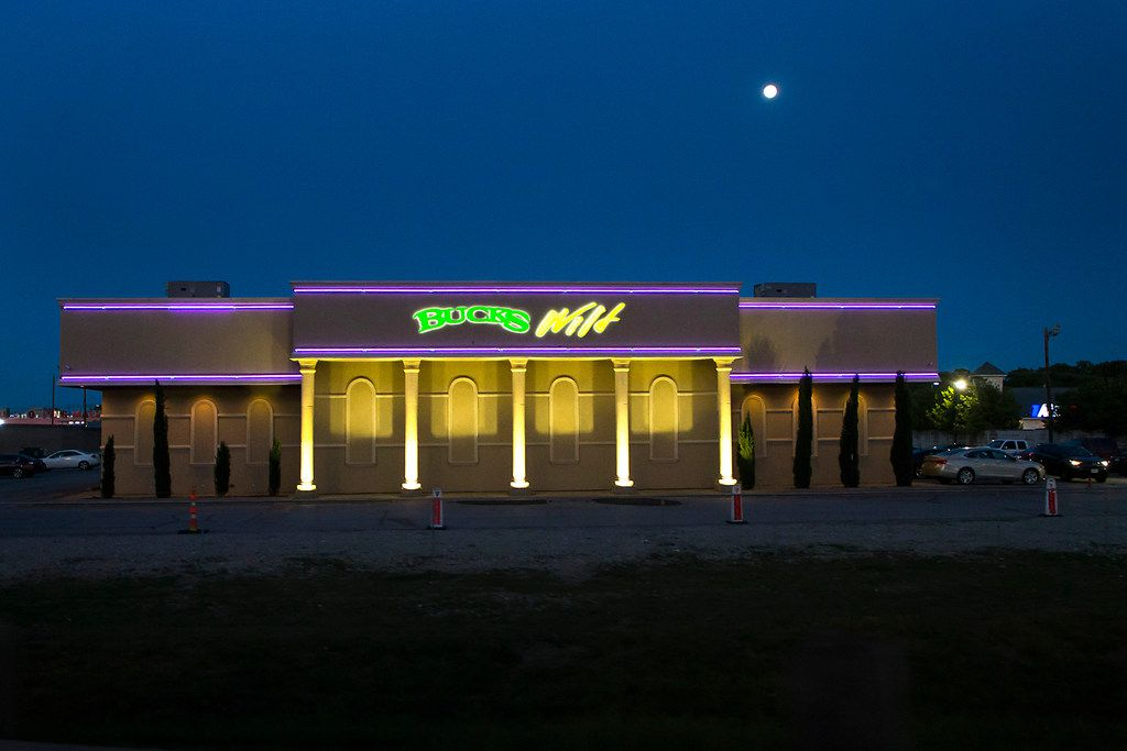 All was calm at Bucks Wild in northwest Dallas the night Stormy came to town.
