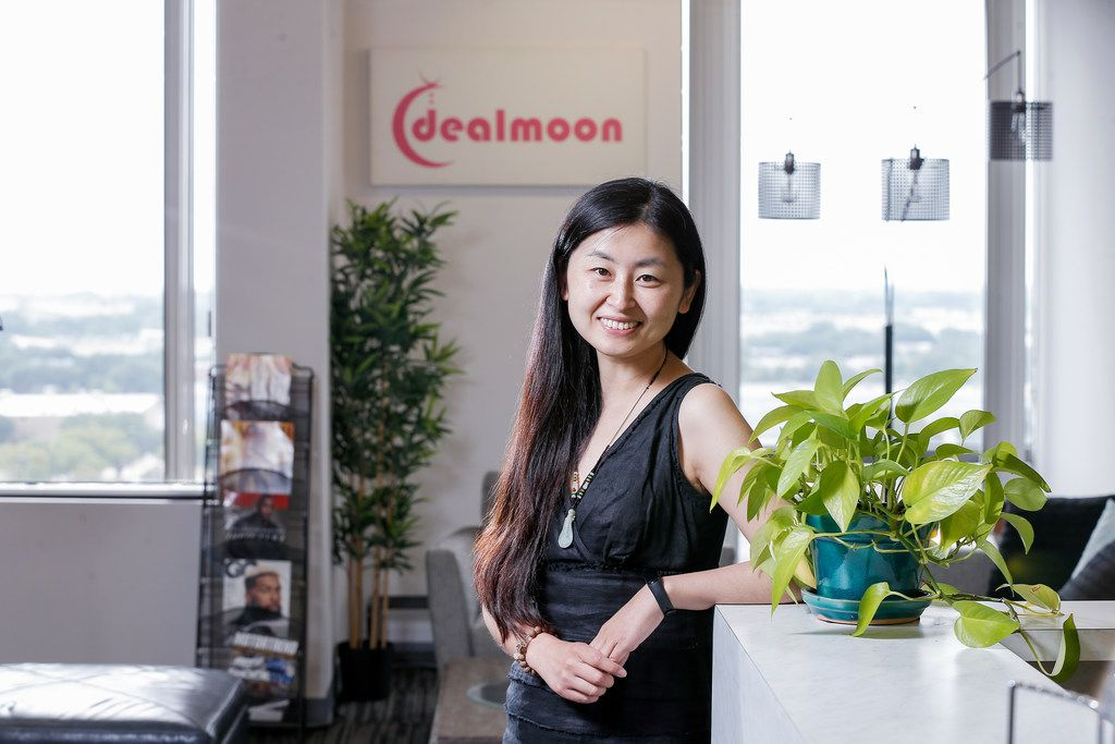 Dealmoon Chief Marketing Officer Jennifer Wang poses for a photo at the companies offices in Richardson, Friday, August 2, 2019. (Brandon Wade/Special Contributor)