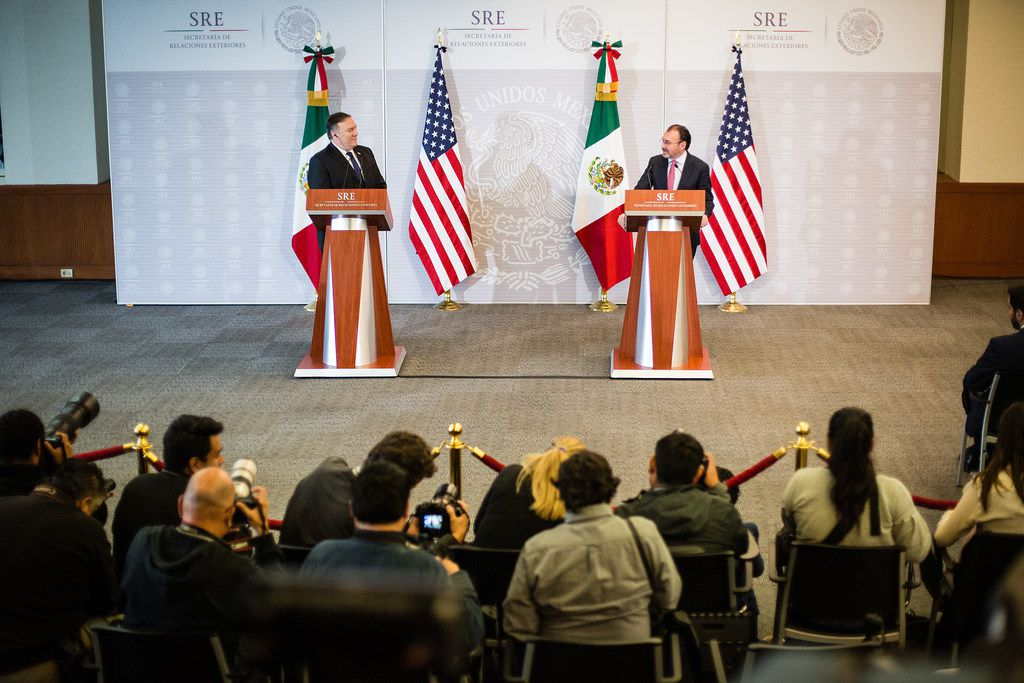 U.S. Secretary of State Mike Pompeo and Mexican Foreign Affairs Secretary of Mexico Luis Videgaray met Friday  in Mexico City.