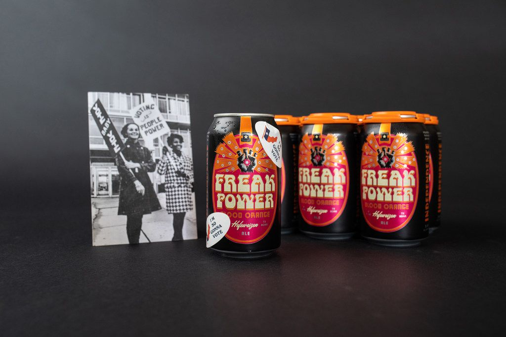 Freak Power is a blood orange-infused Hefeweizen from Independence Brewing Co. in Austin.
