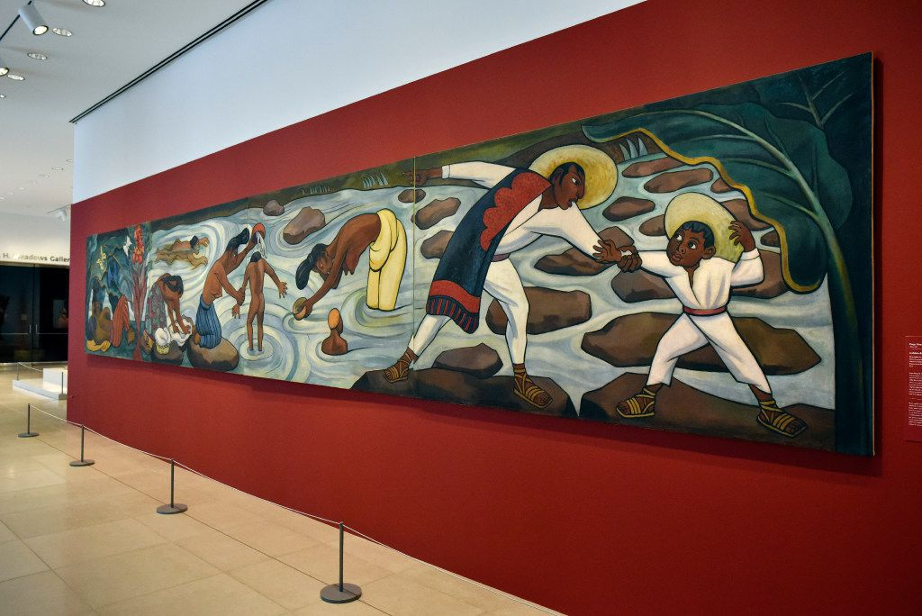 Juchitan River, 1953-55, oil on canvas on wood, by Diego Rivera, part of the exhibition; Mexico 1900-1950: Diego Rivera, Frida Kahlo, Jose Clemente Orozco and the Avant-Garde, showing at the Dallas Museum of Art in Downtown Dallas, March 9, 2017. Ben Torres/Special Contributor
