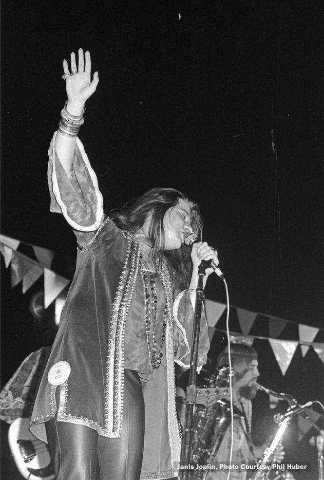 Janis Joplin performs at the Texas International Pop Festival, held on Labor Day weekend, 1969, at the Dallas International Speedway in Lewisville, Texas.