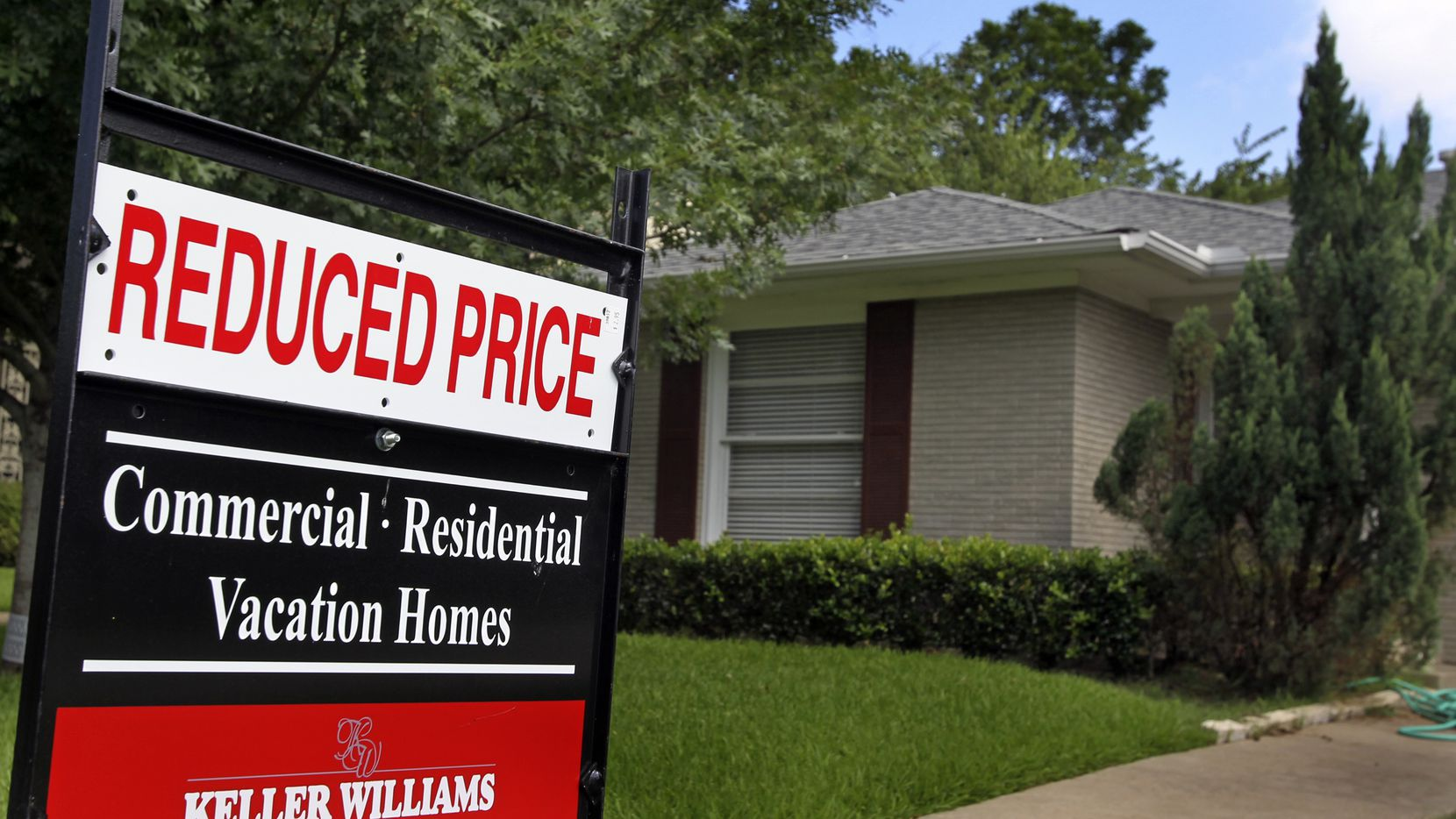 Dallas-area home prices were up by just 2.1% from a year ago in May, according to CoreLogic.
