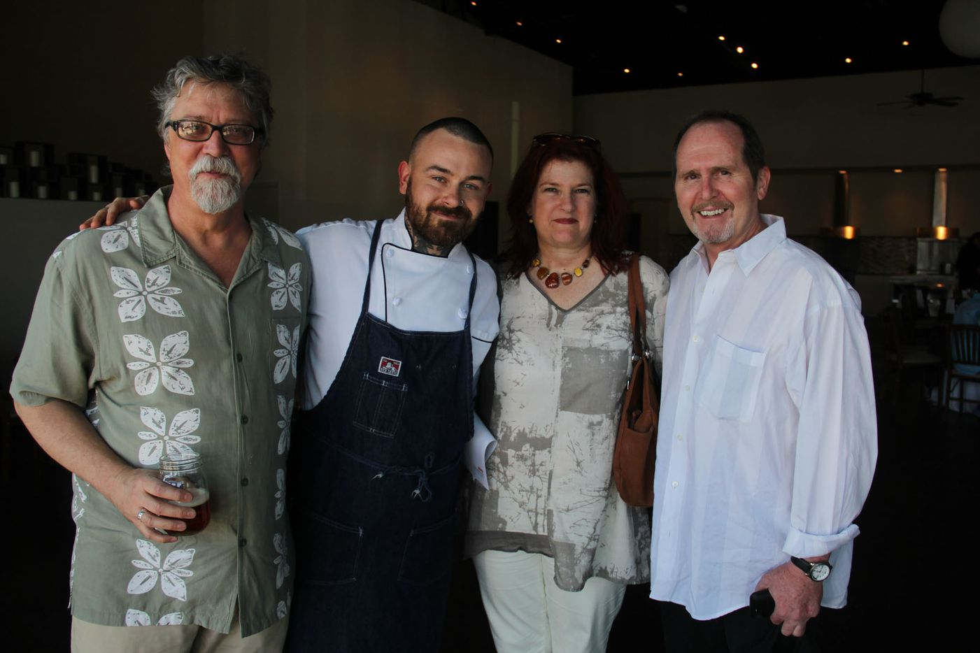 Chef Justin Box with guests at his summer pop up dinner Summer Shenanigans at 3015 in Trinity Groves on July 26,2015.