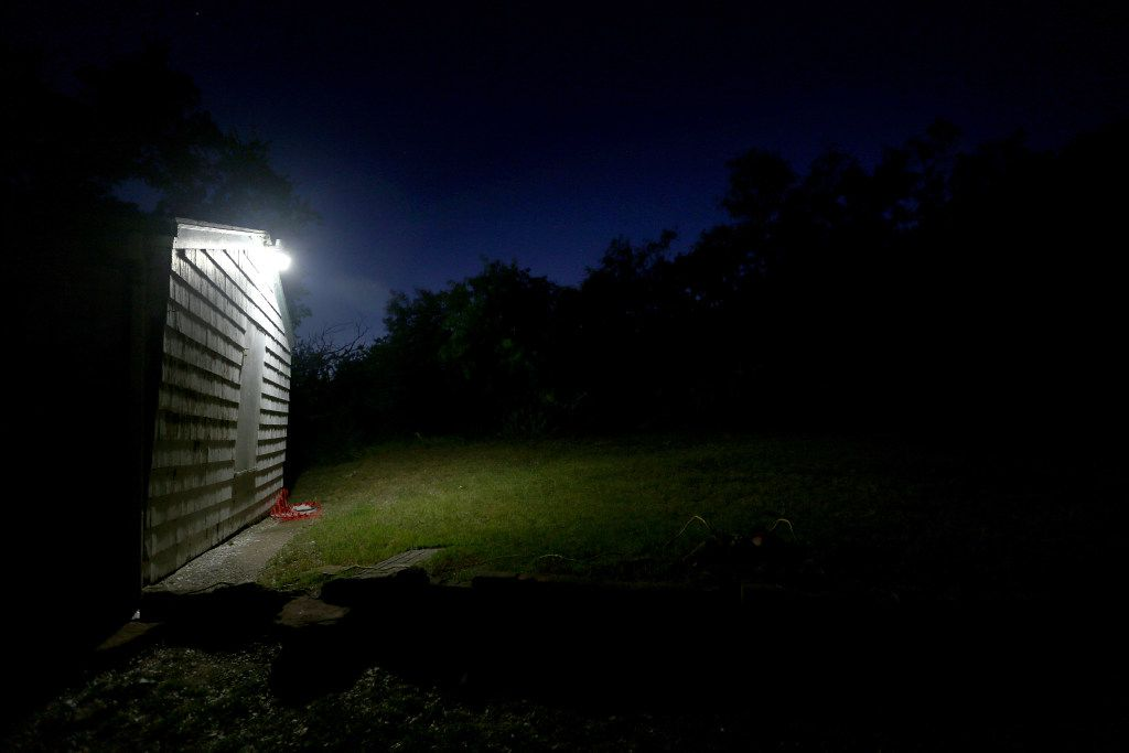 Backyard of the Haunted Hill House in Mineral Wells, Texas on Friday, May 12, 2017. (Rose Baca/The Dallas Morning News)
