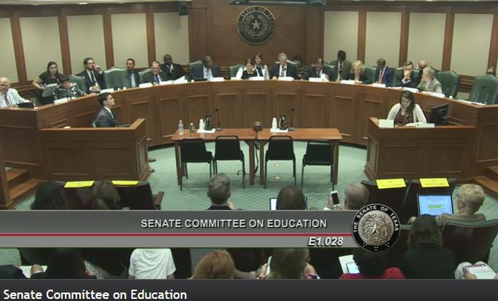 The Senate Education Committee was the scene of a full frontal attack on the state's education establishment by a senator, a school board member and interested parents.