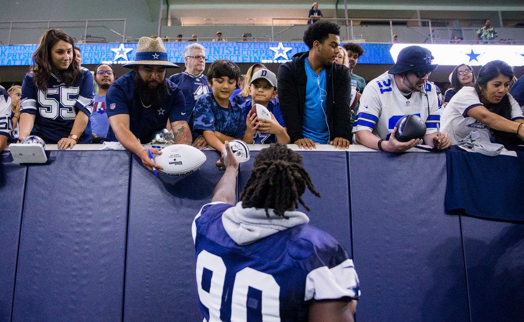 While spending time with local kids, DeMarcus Lawrence