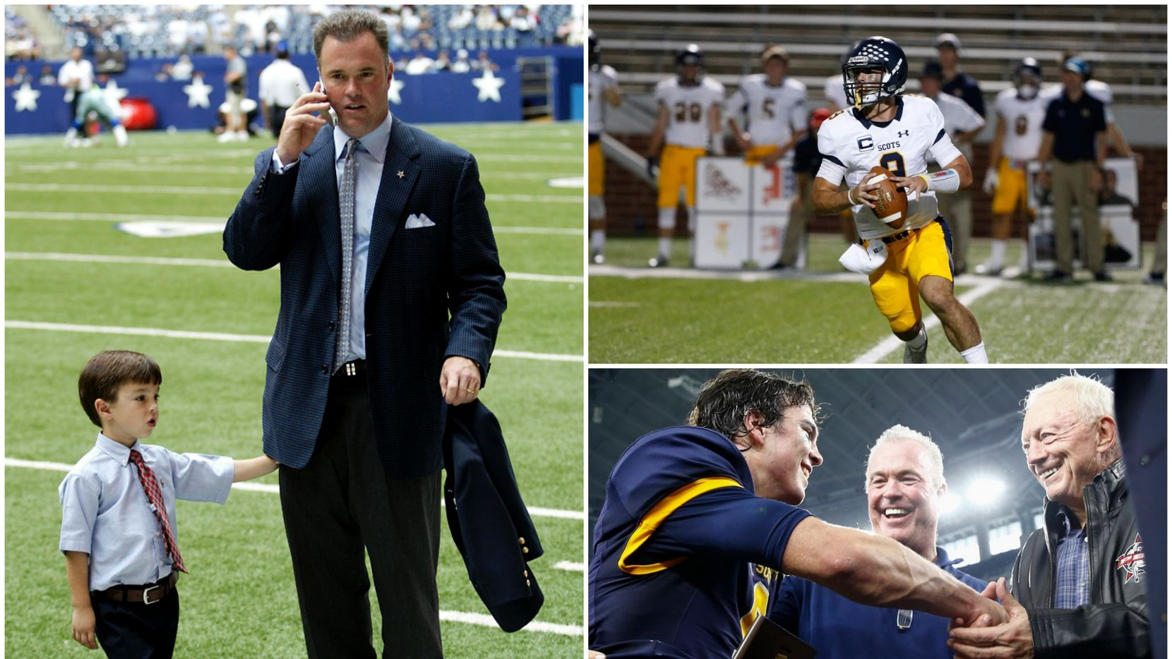 As the son or an NFL executive and grandson of the Dallas Cowboys owner, Highland Park quarterback John Stephen Jones has been around football his whole life -- football at its highest level.