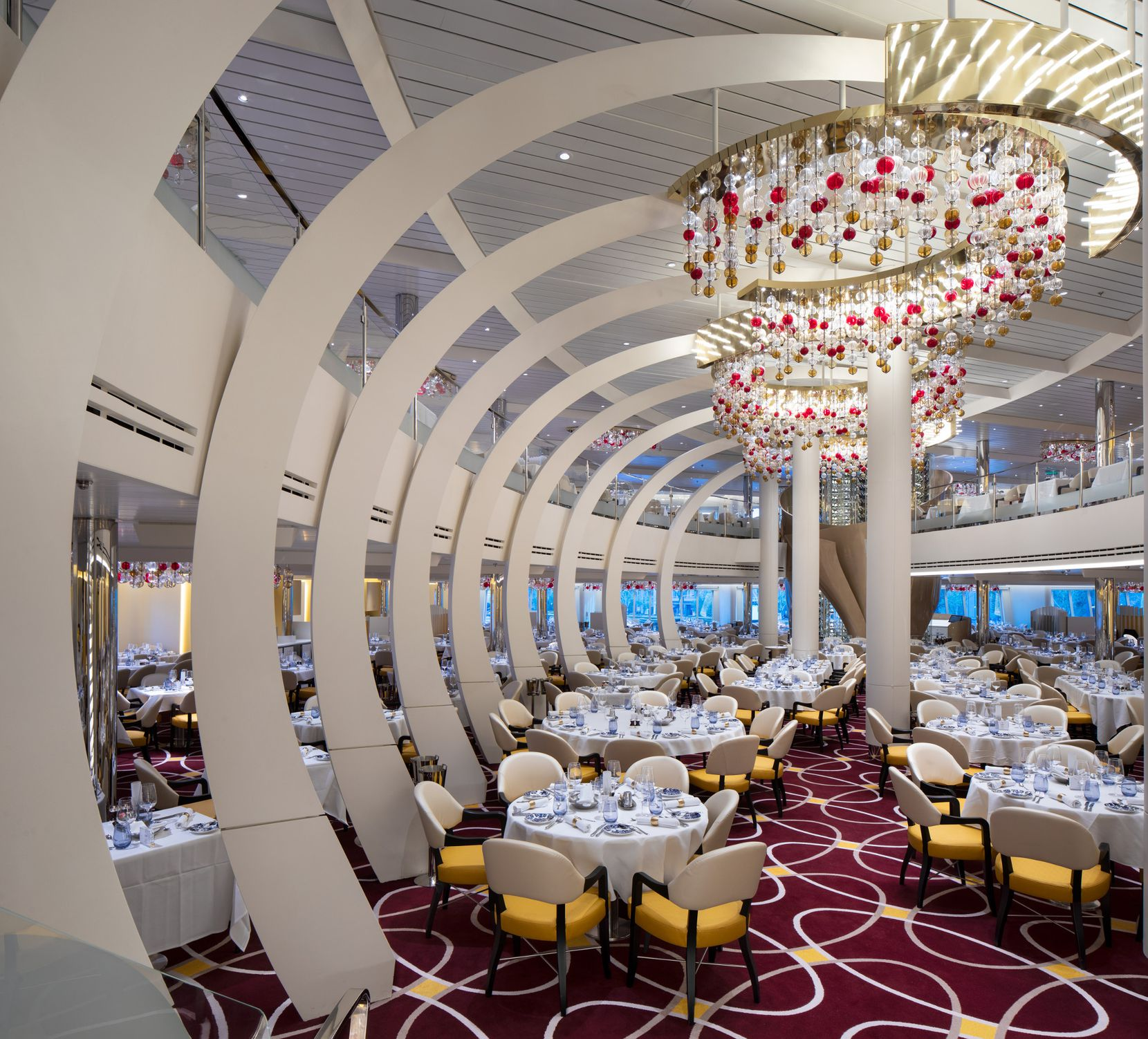 Most workers in the Nieuw Statendam's dining hall trained at one of two Holland America Line academies, in Jakarta and Manila.
