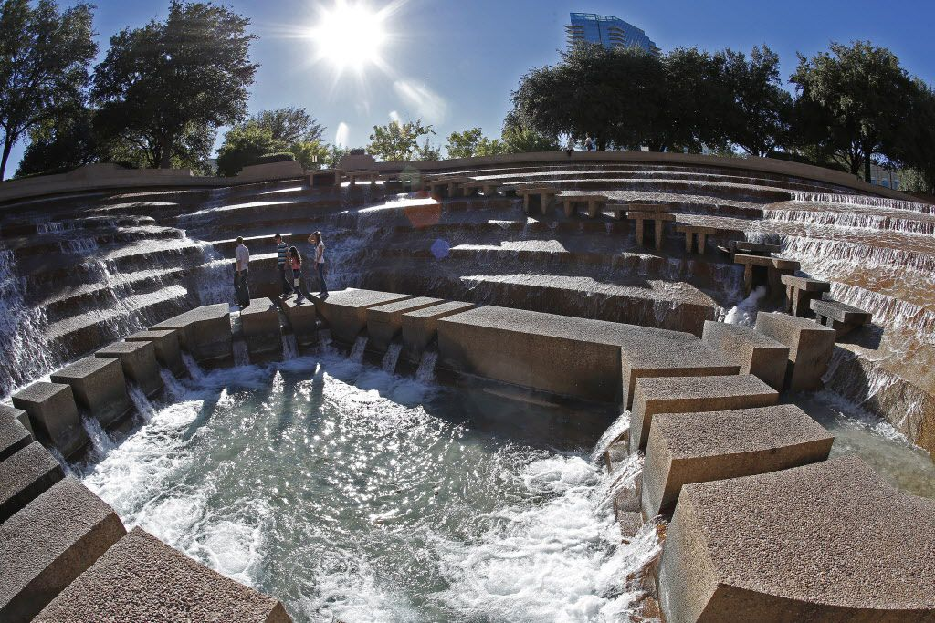 The Fort Worth Water Gardens, a four-and-half-acre water park in downtown Fort Worth, were built in 1974.