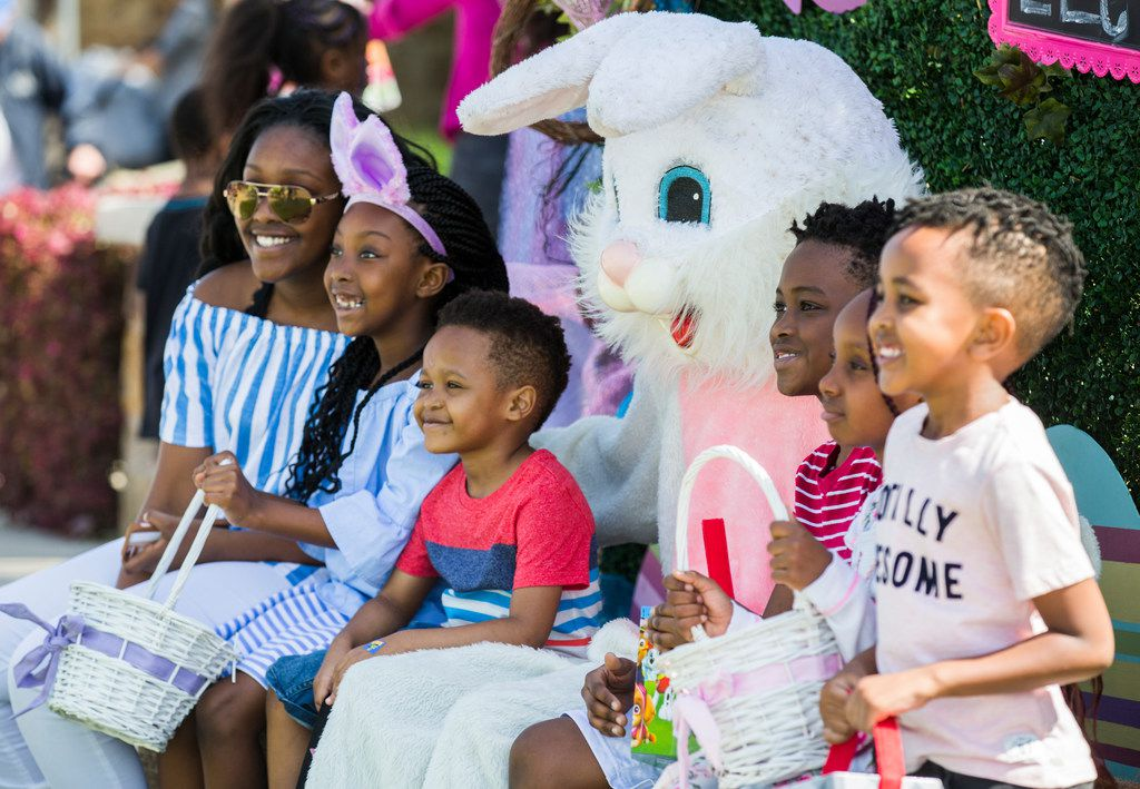 Photos with the Easter Bunny will be part of the festivities at Easter at the Cathedral. The main attraction at the event, on April 20 at Elevate Life Church in Frisco, will be a hunt with 100,000 candy-filled eggs.