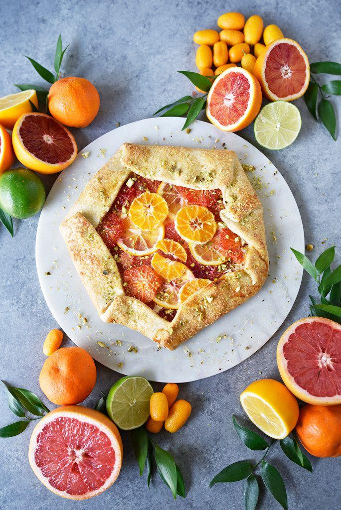 Rustic citrus galette